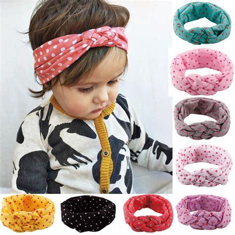beautiful knotted baby headbands braided baby headbands baby dot braided top knot twisted turban headband