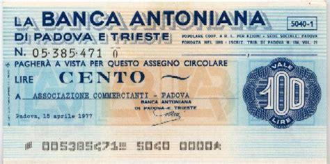 banca antoniana banca antoniana la lira banconote monete e miniassegni