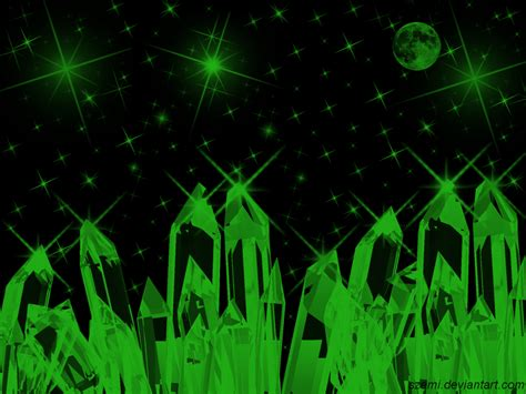 wallpaper crystal green crystal green night wallpaper by szemi on deviantart