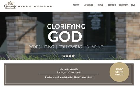 how to build a church website with