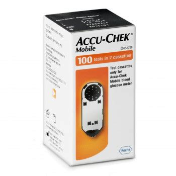 accu chek mobile test cassette 100 accu chek mobile 100 tests in 2 cassettes pharmacy 4 less