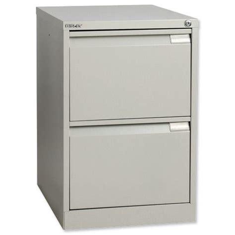 Bisley 2 Drawer Filing Cabinet Bisley Filing Cabinet 2 Drawer Lock Grey Flush Code By00497 Officepad Co Uk