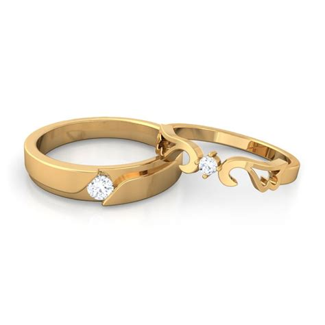 Paar Ringe Gold by Esther Engagement Rings For In 10k Gold