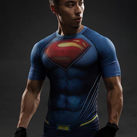 Kaos Captain Costume An3c superman rash guard clark kent cross fit compression