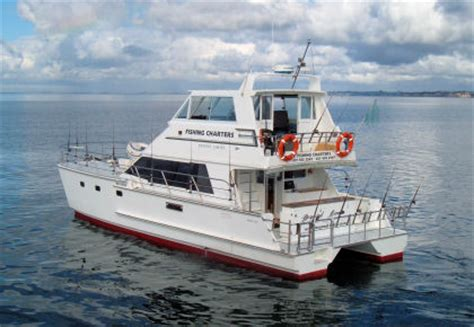 charter fishing boats for sale nz beyond limits charter boat auckland 46ft catamaran