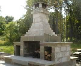 cinder block fireplace outdoor patios and walkways