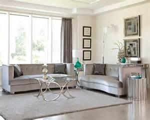 sleek sofa sets for small flats sleek silver gray grey velvet sofa loveseat living room