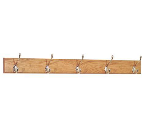 Hook Rack by Coat Rack Five Hook Oak In Wall Coat Racks