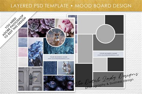 Photoshop Mood Board Template Graphic By Daphnepopuliers Creative Fabrica Mood Board Template Photoshop