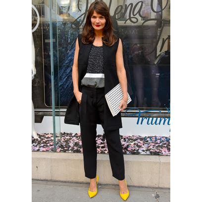 Helena Christensens Fashion Line Coming Soon To Net A Porter helena christensen s fashion style carpet