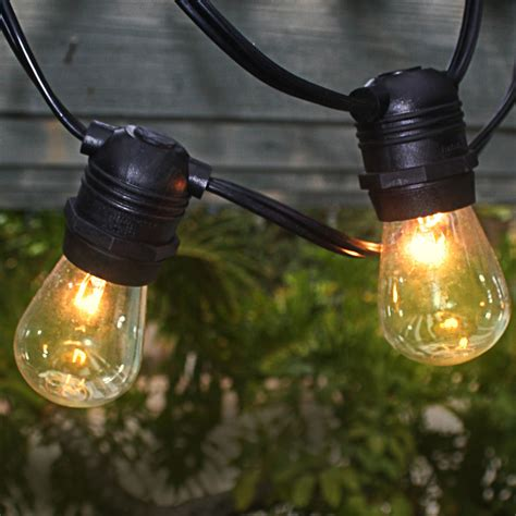 Heavy Duty Outdoor String Lights Black 54 Commercial Grade Heavy Duty Outdoor String Lights W 24 Sockets Bulbs Included