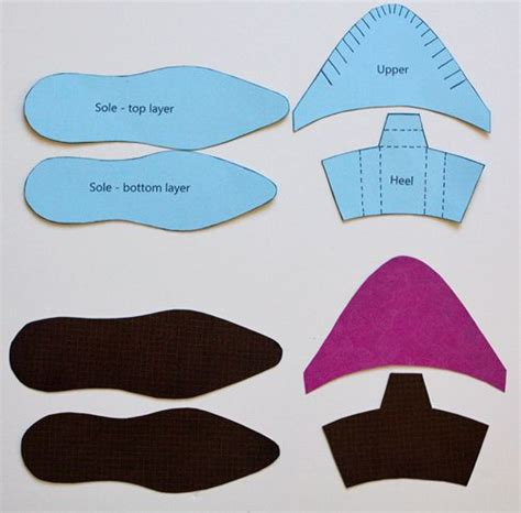 How To Make A Shoe Out Of Paper - printable high heel shoe template shoe template