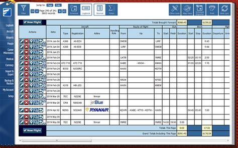 flight log template safelog faa and easa pilot logbook system
