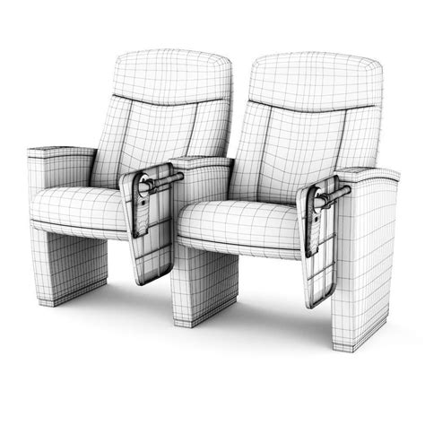 armchair cinema armchair cinema 3d model max cgtrader com