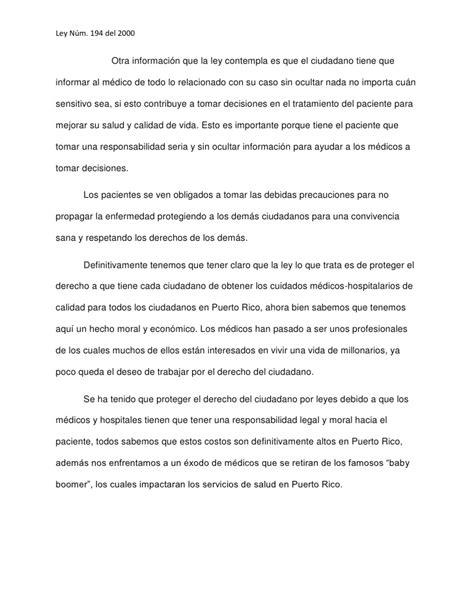 carta formal tratamiento carta de derechos y responsabilidades paciente