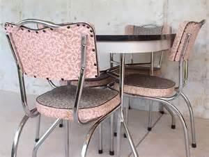 Vintage 50s pink kitchen table set tables sets vintage kitchens