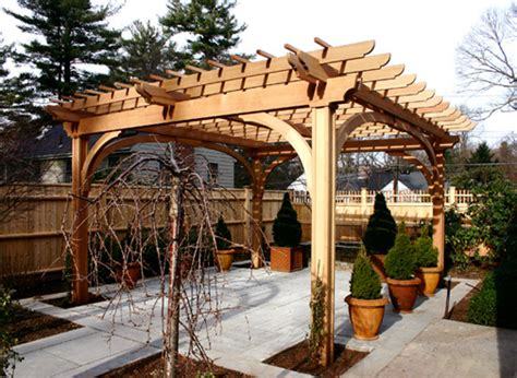 Pergola Post Supports by Post And Bracket Pergola No Bp6 By Trellis Structures