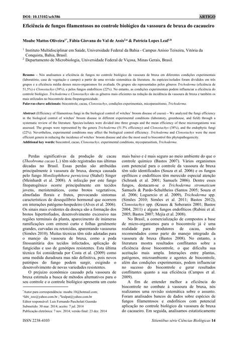 (PDF) Eficiência de fungos filamentosos no controle