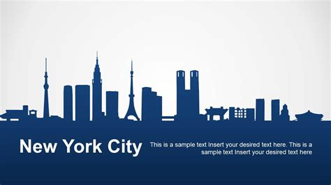nyu powerpoint template new york city powerpoint template slidemodel