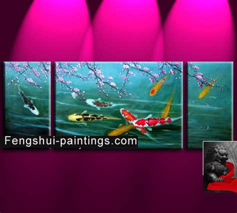 feng shui painting koi painting koi fish painting feng shui fish painting ebay