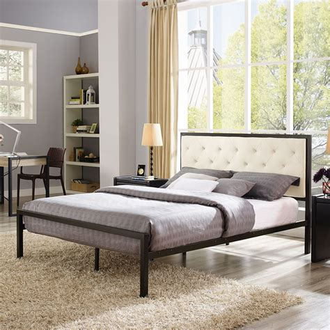 mia bedroom set mia tufted fabric bed brown beige dcg stores