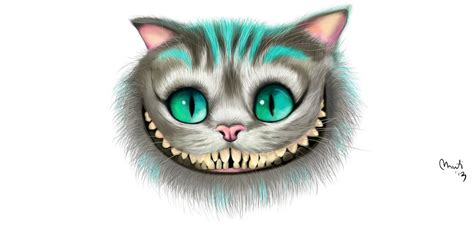 cheshire cat tim burton version by alch3mist design on
