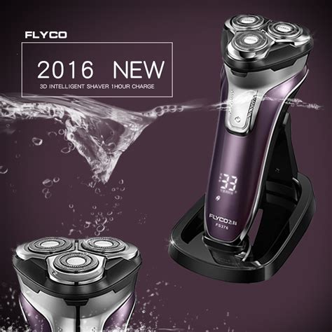 Senter Led Rechargerable Fs61 flyco 3d floating rechargeable portable washable electric shaver led light fast charge