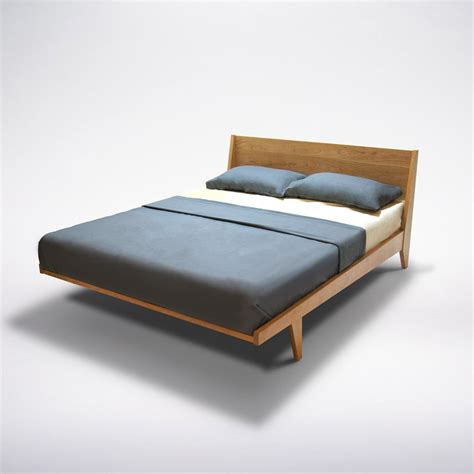 Modern Wood Bed Frame Beautiful Mid Century Modern Wood Bed Frame Size And Wingback Headboard Decofurnish