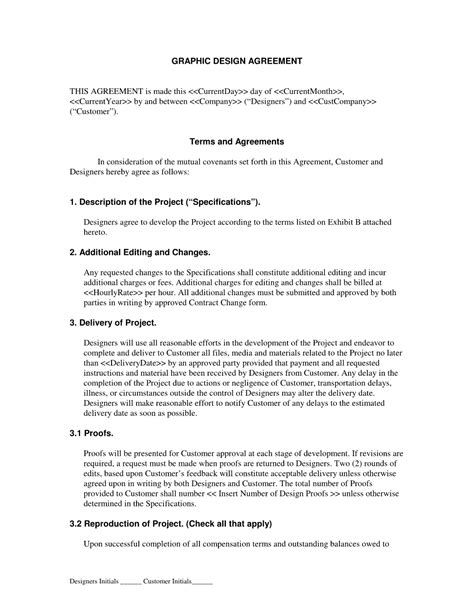 Graphic Designer Contract Graphic Design Contract Template