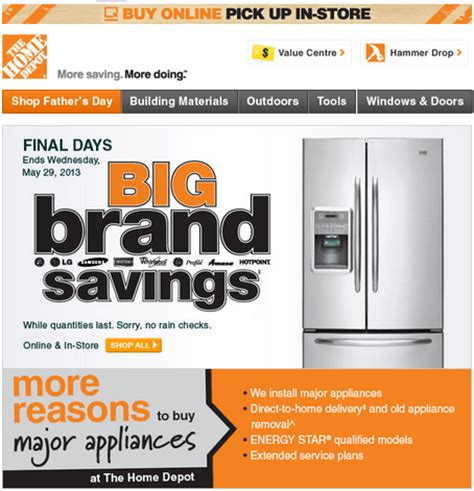 the home depot big brand savings canadian freebies