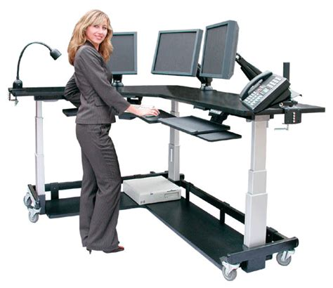 L Shaped Standing Desk For Corners Afcindustries L Shaped Standing Desk