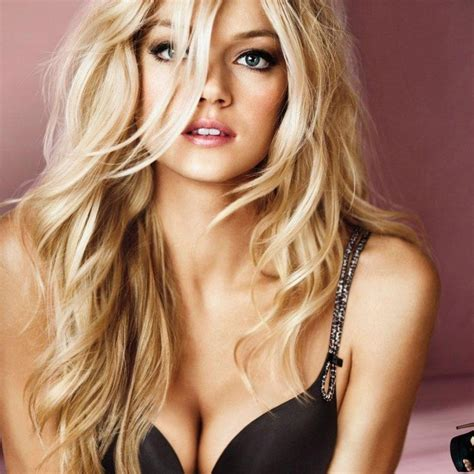 victoria secret model with short hair on the side and the back but long hair on the top victoria secret model blonde hair hair color pinterest