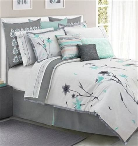 teal color comforter sets teal and gray floral bedding color pinterest grey