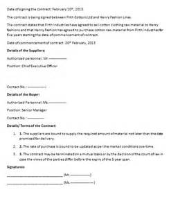 Commercial Contract Template commercial contract template contract agreements