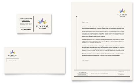funeral home business card templates funeral services brochure template design