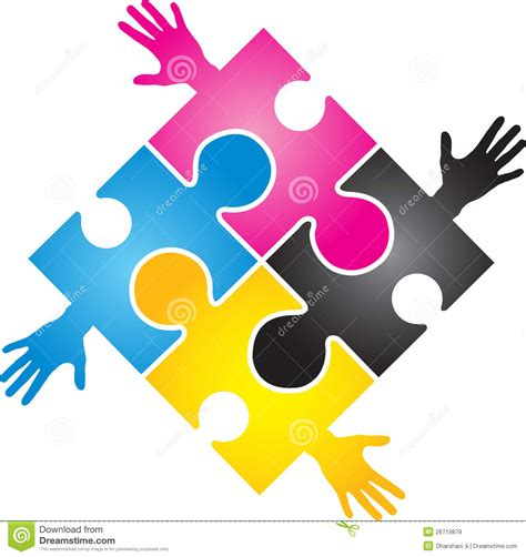 cmyk puzzle cmyk puzzle stock vector image of creative