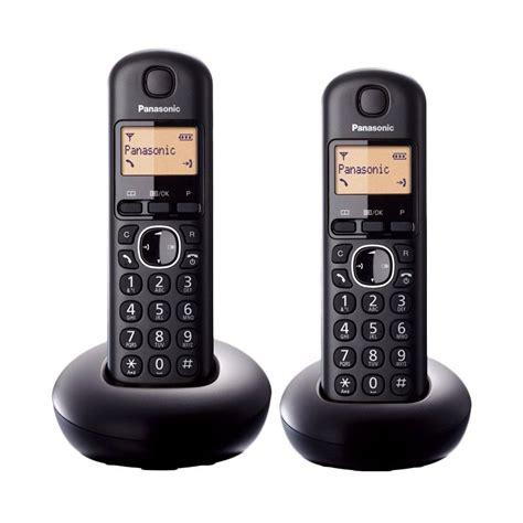 Panasonic Kx Tg3411 Telephone Wireless Hitam jual panasonic cordless phone kx tgb212 hitam wireless bullet telephone 2 handsets
