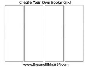 create your own bookmark template blank printable bookmarks pictures to pin on