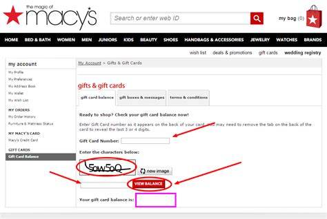 Check Balance Macy S Gift Card - macys com mymacy card infocard co