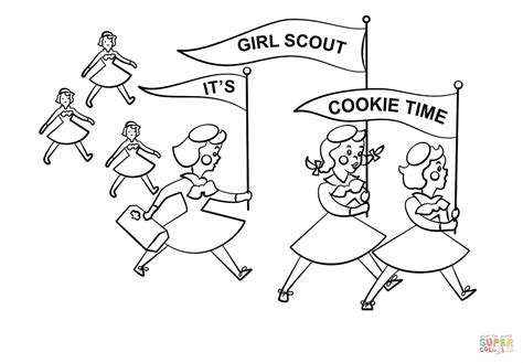 scout cookie coloring pages it s scout cookie time coloring page free printable