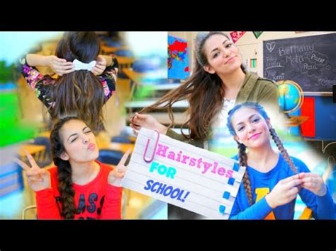easy back to school hairstyles no heat back to school 5 quick hairstyle ideas no heat youtube