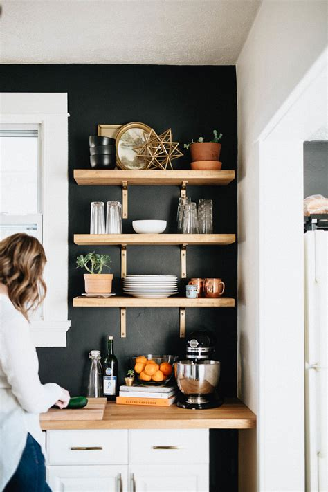 Kitchen Wall Shelving Ideas by Our Diy Kitchen Remodel Honest Artistic The