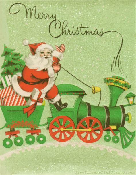 printable christmas cards vintage free vintage digital stamps vintage printable santa