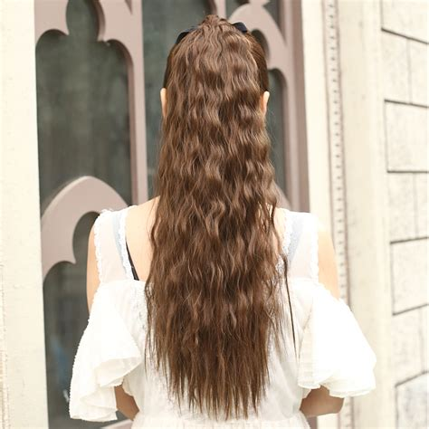 Hair Clip Hairclip Hair Klip Lurus 60 65cm 60cm 24inch curly ponytail synthetic hair ponytails hairpiece for lovely clip in