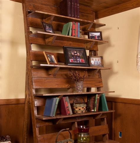 pallet bookcase a place for all reading material