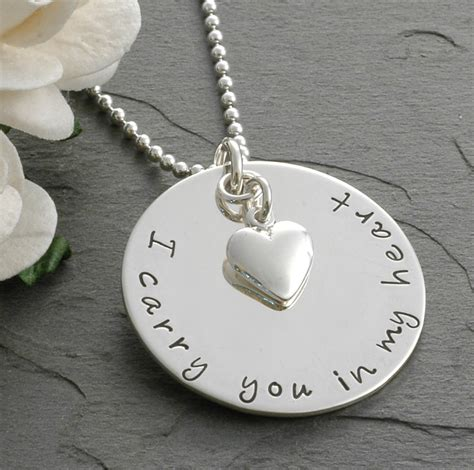 memorial necklace in remembrance memorial necklace i carry you in my remembrance