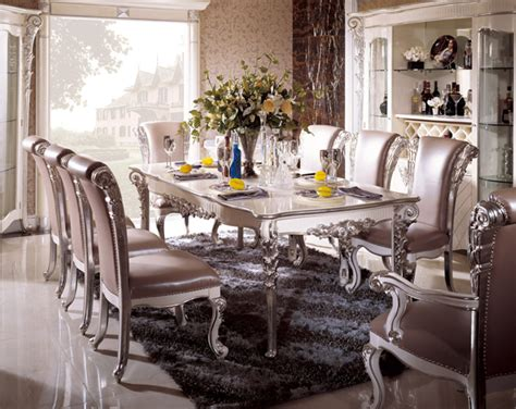 Silver Dining Table And Chairs 187 Silver Dining Room In Italian Styletop And Best Italian Classic Furniture