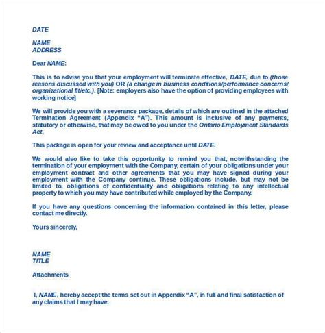 At Will Employee Termination Letter by Free Termination Letter Template 32 Free Sle Exle Format Free Premium