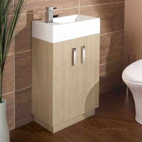Flabeg Bathroom Mirrors Hib 1380061 Light Oak Revio Metro Cloakroom Unit Floor Standing Two Door Hib