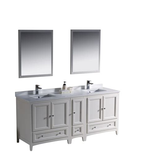 72 inch sink bathroom vanity in antique white